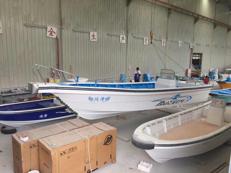 水上娱乐设施钓鱼船整体船型美观 协调